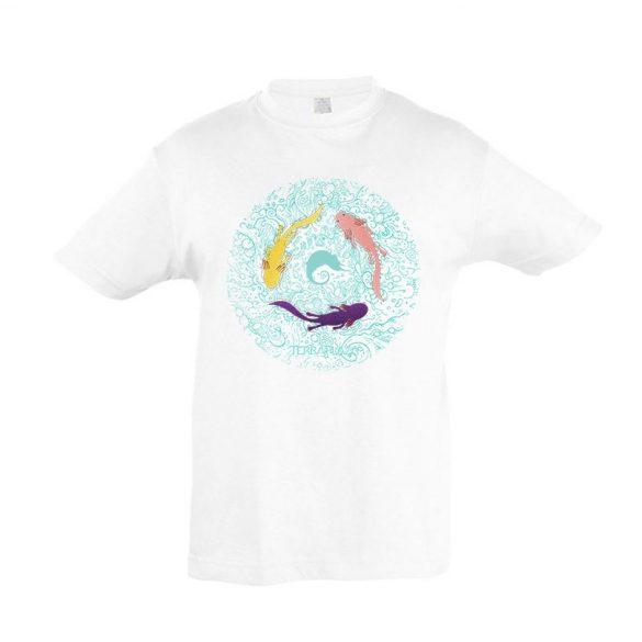 Axolotl white gyermek póló