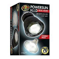 ZooMed PowerSun™  Powersun Combo HID lámpa & lámpabúra - 70 W