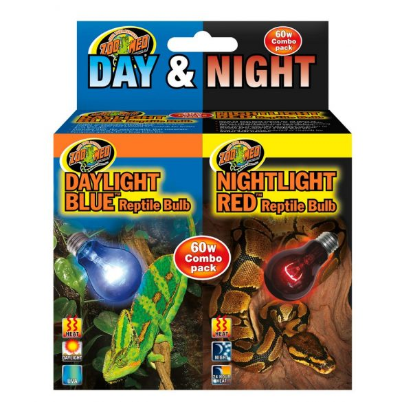 Zoo Med Day/Night Reptile Bulb Combo (DB-60E & NR-60E)