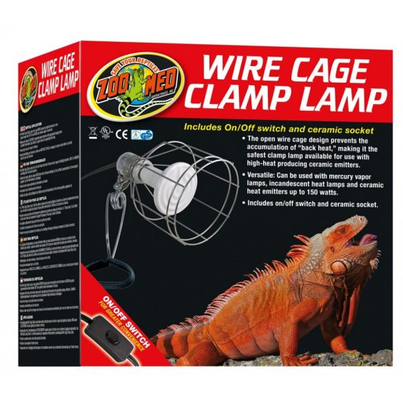 Zoo Med Wire Cage szorítós lámpatest (max 150w)