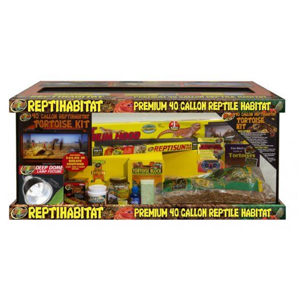 ZooMed ReptiHabitat Terrarium (szárazföldi teknős csomag)
