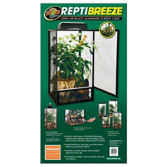 ZooMed ReptiBreeze Alum Screen Cage 40 x 40 x 76 cm