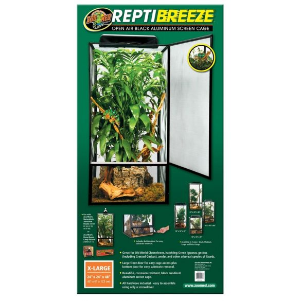ZooMed ReptiBreeze Alum Screen Cage 61 x 61 x 122 cm