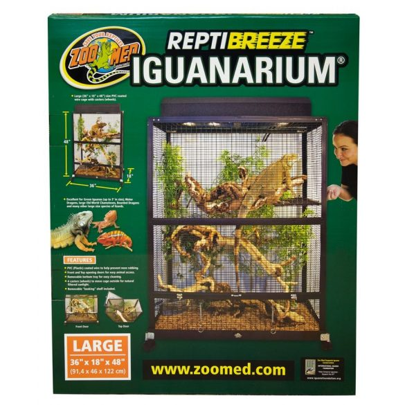ZooMed ReptiBreeze® IguanArium® 91 x 46 x 122 cm