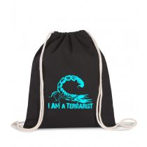 Tornazsák I'm a terrarist scorpion blue
