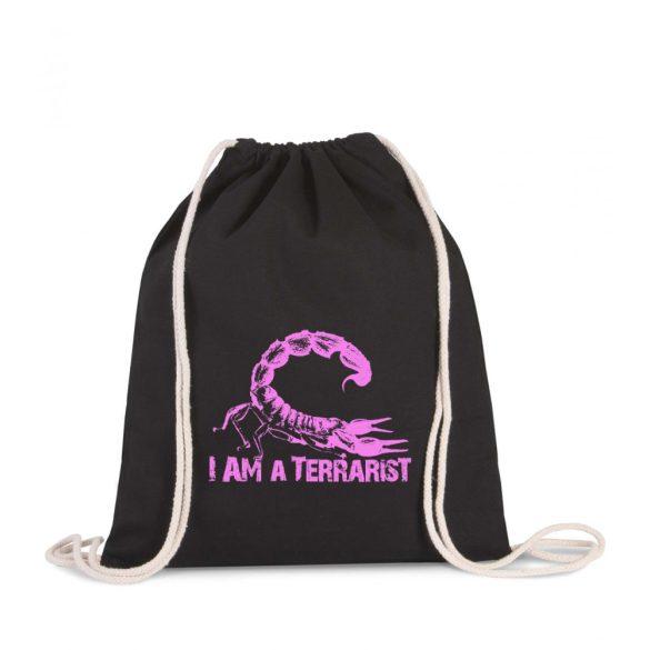 Tornazsák I'm a terrarist scorpion purple
