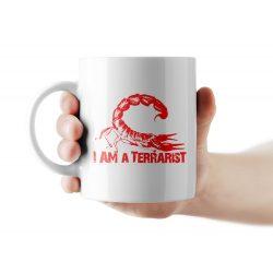 Scorpion piros terrarist bögre