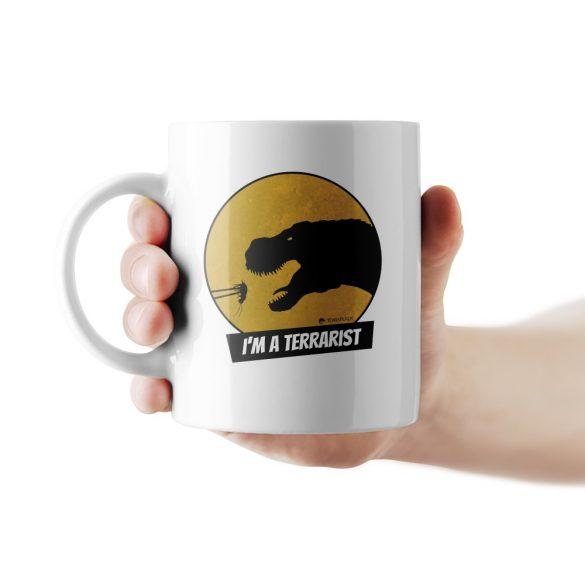 T-rex terrarista bögre
