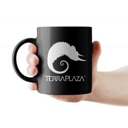 TerraPlaza simple logo fekete bögre
